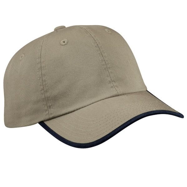 Port Authority (r) - Unstructured Enzyme Washed Twill Cap With Contrast Visor Trim And Underbill Photo