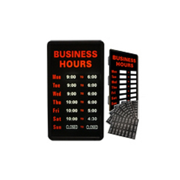 "12"" x 22"" Business Hours Sign  Simulated Neon Sign - Custom Simulated Neon Sign.  12"" x 22"" Business Hours Sign  Simulated Neon Sign"