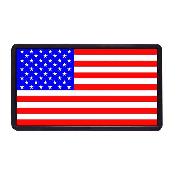 """American Flag 13"""" x 24"""" Simulated Neon Sign - Custom Simulated Neon Sign.  13"""" x 24"""" Ready Made Title Light Box American Flag"""