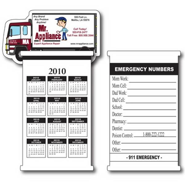 Truck Flip It Calendar With Repositionable Adhesive Photo