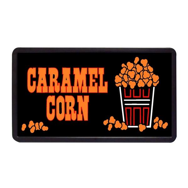 "Caramel Corn 13"" x 24"" Simulated Neon Sign - Custom Simulated Neon Sign.  13"" x 24"" Ready Made Title Light Box Caramel Corn"