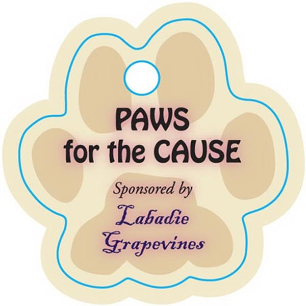 Paw Shape Keytag/pet Tag/zipper Pull Photo