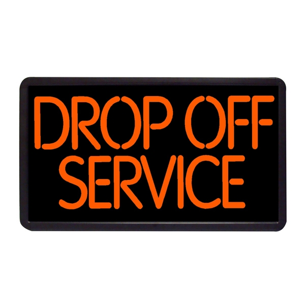 """Drop Off Service 13"""" x 24"""" Simulated Neon Sign - Custom Simulated Neon Sign.  13"""" x 24"""" Ready Made Title Light Box  Drop Off Service"""