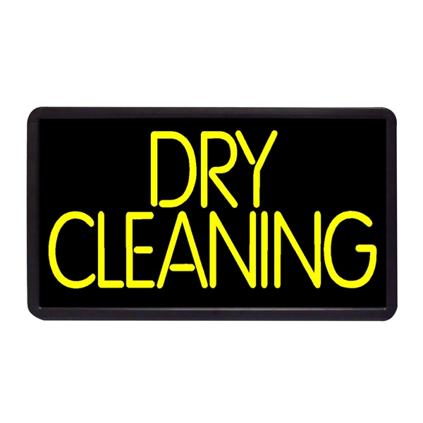 "Dry Cleaning 13"" x 24"" Simulated Neon Sign - Custom Simulated Neon Sign.  13"" x 24"" Ready Made Title Light Box Dry Cleaning"