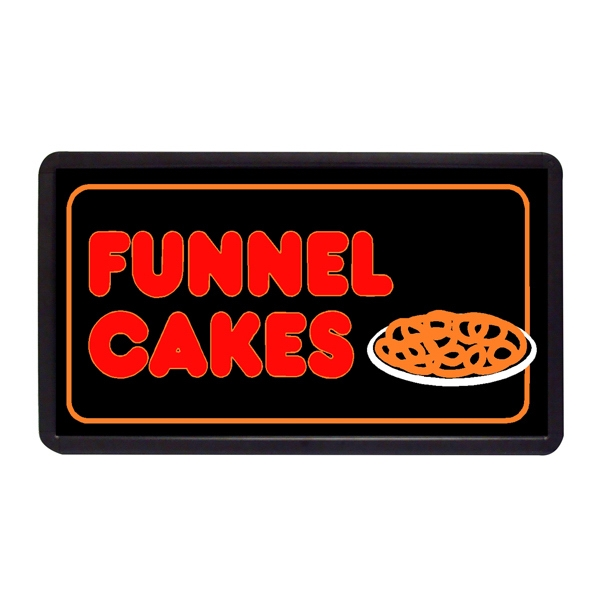 "Funnel Cakes 13"" x 24"" Simulated Neon Sign - Custom Simulated Neon Sign.  13"" x 24"" Ready Made Title Light Box Funnel Cakes"