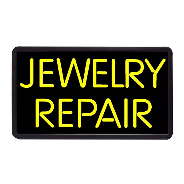 "Repair Jewelry Repair 13"" x 24"" Simulated Neon Sign - Custom Simulated Neon Sign.  13"" x 24"" Ready Made Title Light Box Jewelry Repair"