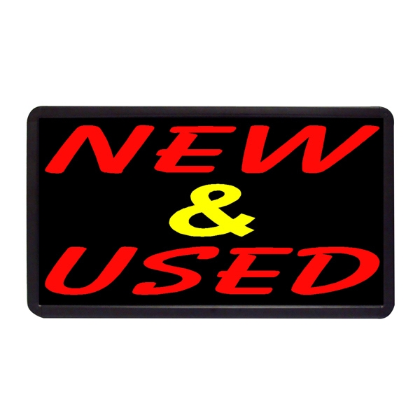 "New & Used 13"" x 24"" Simulated Neon Sign - Custom Simulated Neon Sign.  13"" x 24"" Ready Made Title Light Box New & Used"