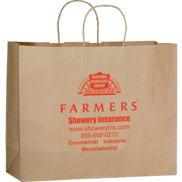 Natural Kraft Paper Shopper Bag - Flexo Ink
