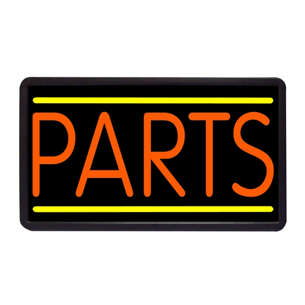 "Parts 13"" x 24"" Simulated Neon Sign - Custom Simulated Neon Sign.  13"" x 24"" Ready Made Title Light Box Parts"
