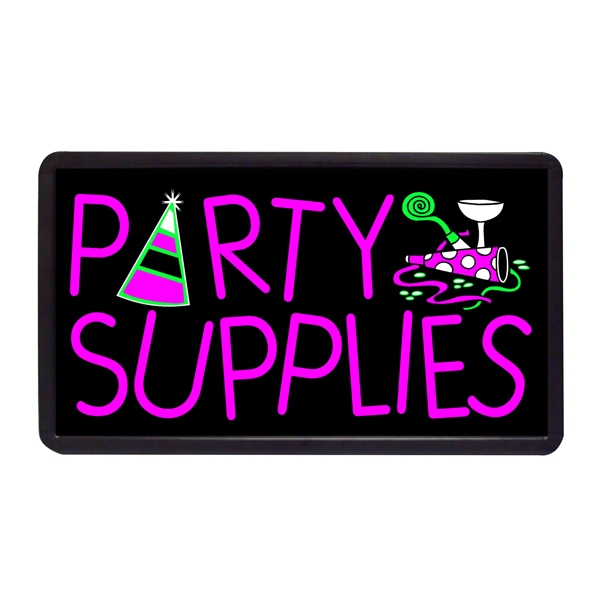 """Party Supplies 13"""" x 24"""" Simulated Neon Sign - Custom Simulated Neon Sign.  13"""" x 24"""" Ready Made Title Light Box Party Supplies"""