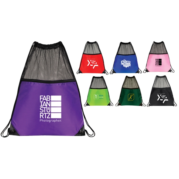 FITNESS MESH DRAWSTRING BAG-IMP