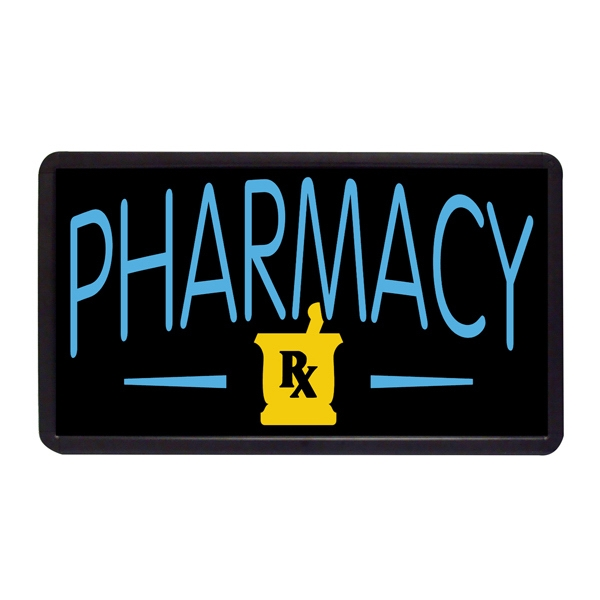 """Pharmacy 13"""" x 24"""" Simulated Neon Sign - Custom Simulated Neon Sign.  13"""" x 24"""" Ready Made Title Light Box Pharmacy"""