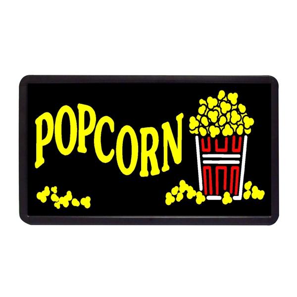 "Popcorn 13"" x 24"" Simulated Neon Sign - Custom Simulated Neon Sign.  13"" x 24"" Ready Made Title Light Box Popcorn"
