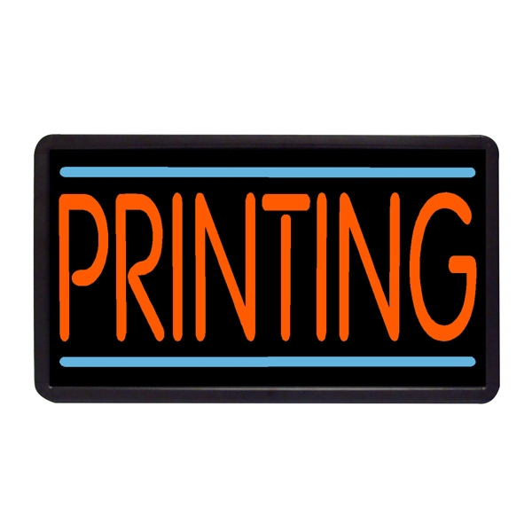 "Printing 13"" x 24"" Simulated Neon Sign - Custom Simulated Neon Sign.  13"" x 24"" Ready Made Title Light Box Printing"