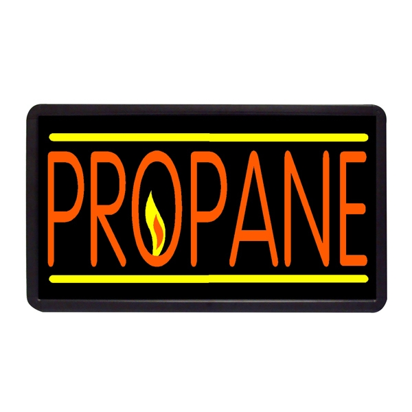 "Propane 13"" x 24"" Simulated Neon Sign - Custom Simulated Neon Sign.  13"" x 24"" Ready Made Title Light Box Propane"