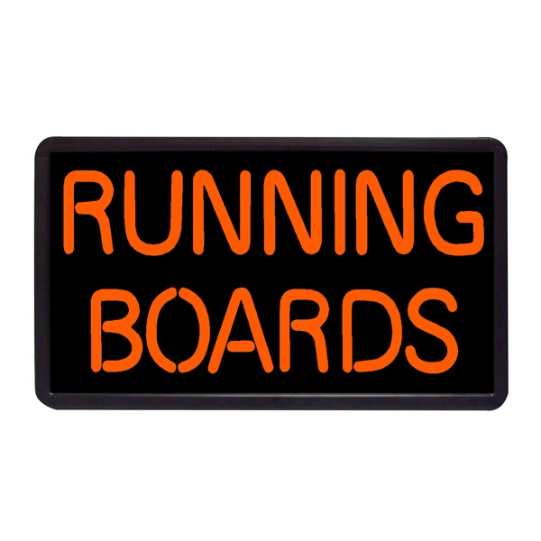 """Running Boards 13"""" x 24"""" Simulated Neon Sign - Custom Simulated Neon Sign.  13"""" x 24"""" Ready Made Title Light Box Running Boards"""