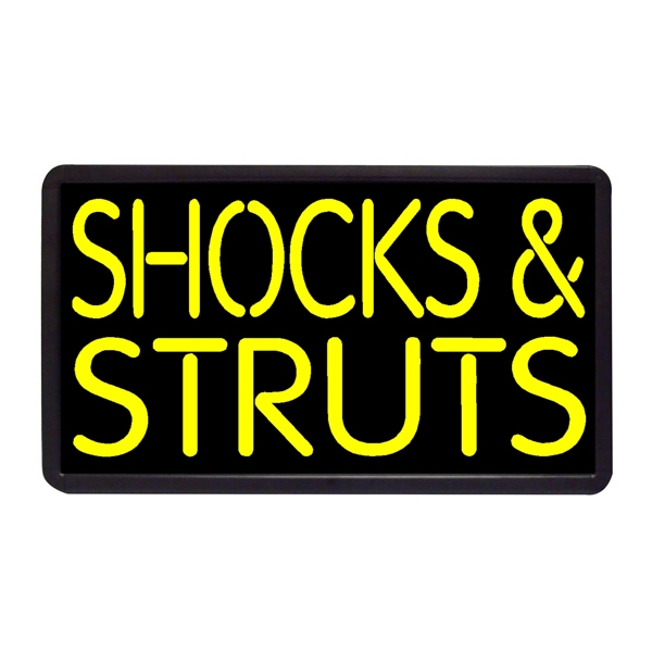 "Shock n' Struts 13"" x 24"" Simulated Neon Sign - Custom Simulated Neon Sign.  13"" x 24"" Ready Made Title Light Box Shock n' Struts"