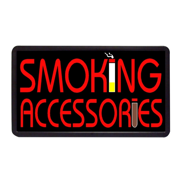 """Smoking Access 13"""" x 24"""" Simulated Neon Sign - Custom Simulated Neon Sign.  13"""" x 24"""" Ready Made Title Light Box Smoking Access"""