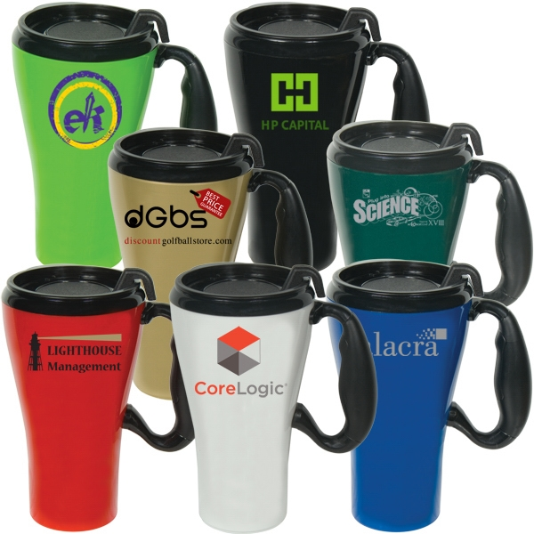 Double Wall Plastic 16 Oz. Travel Mug Photo