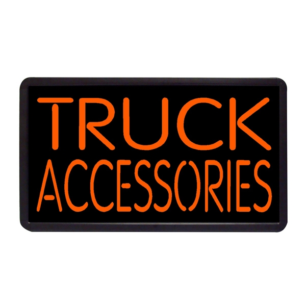"Truck Accessories Running Boards 13"" x 24"" Simulated Neon - Custom Simulated Neon Sign.  13"" x 24"" Ready Made Title Light Box Running Boards"