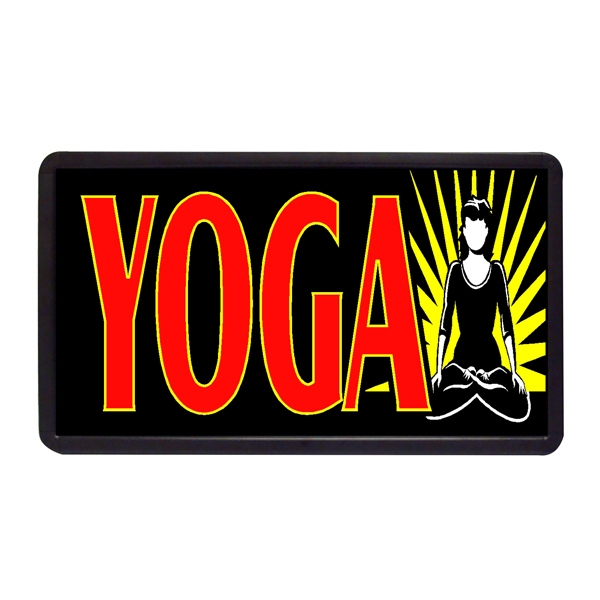 "Yoga 13"" x 24"" Simulated Neon Sign - Custom Simulated Neon Sign.  13"" x 24"" Ready Made Title Light Box Yoga"