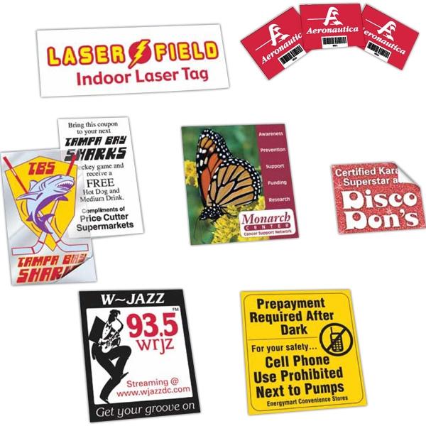 Vinyl Square Corner Custom Size Decals - Vinyl removable adhesive square corner custom size decal.