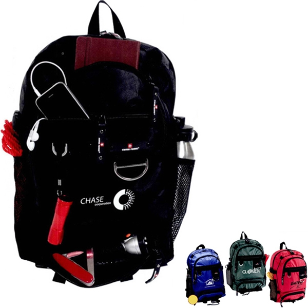 Explorer (r);swiss Force (r) - Backpack With 4 Zippered Compartments And Pvc Weather Proof Lining Photo