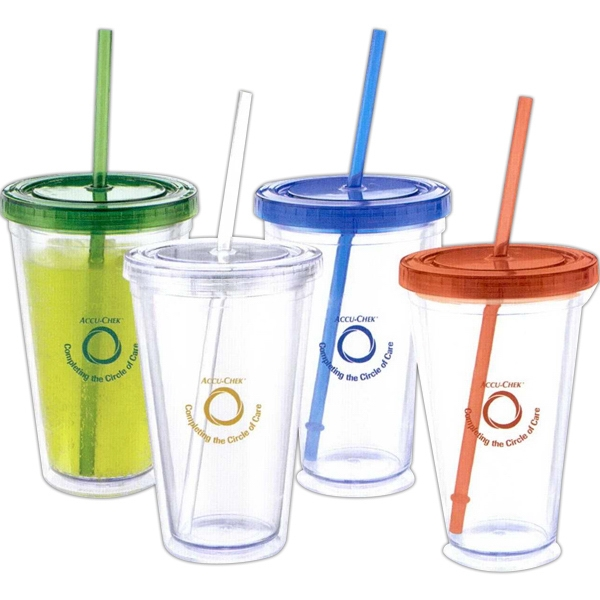 The Colours Cool - Acrylic Tumbler With Straw Photo