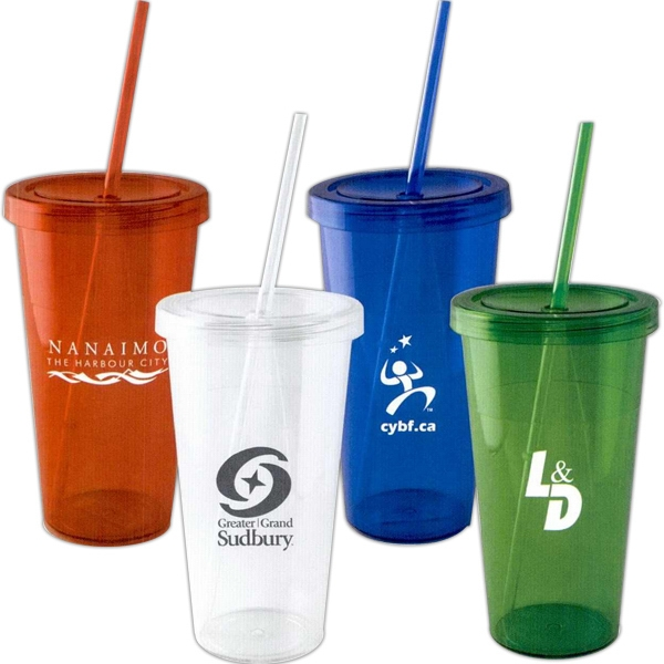 The Grande - Acrylic Tumbler With Straw, 24oz, Photo