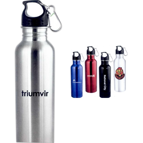 The Wide Mouth Flair - Stainless Steel Water Bottle With Carabiner, 25 Oz Photo