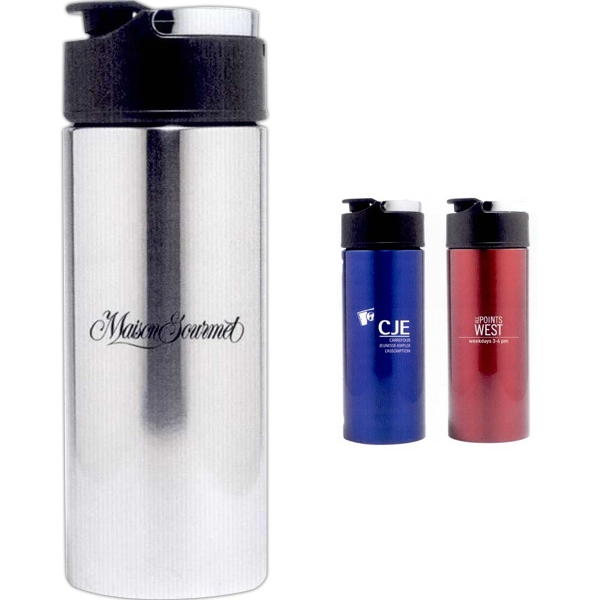 The Energy - Stainless Steel Water Bottle With Carry Handle, 17 Oz Photo