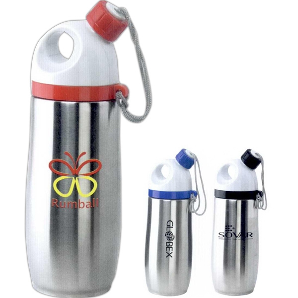 The Italia - Hot And Cold Stainless Steel Personal Drinking Flask, 12 Oz Photo