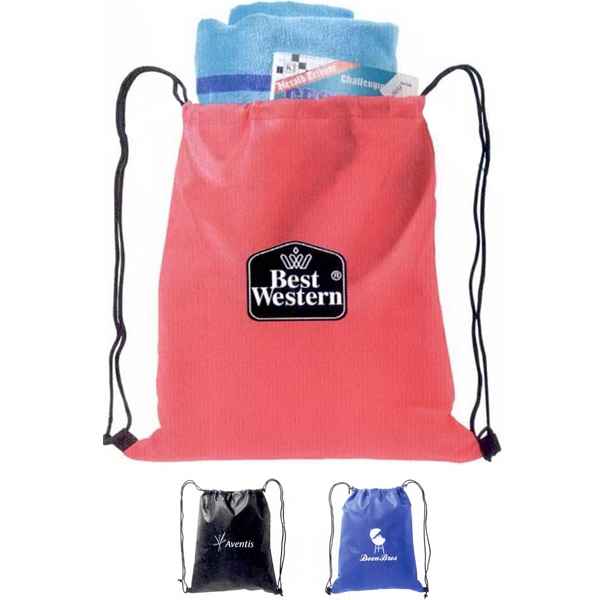 The Budget - Drawstring Classic Tote, 100% Non Woven Polypropylene 80 Gram Photo