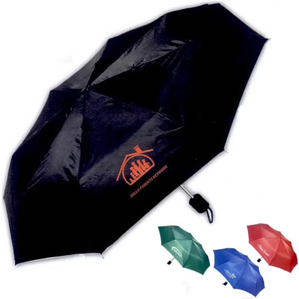 The Compact - Umbrella, Hand Operated Folding Design With Velcro Closure Photo