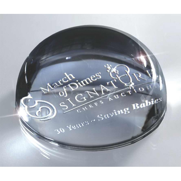 "Prestigious Paperweights - Glass Domed Paperweight. 2"" Thick Photo"
