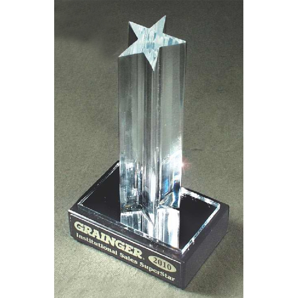 "Celestial Star - 3"" X 4 7/8"" - Celestial Recognition Award On Marble Base Photo"