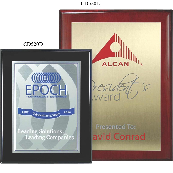 Master Collection - 9'' X 12'' - Plaque Award - Choice Of Screened Plate & Board. Screened Printed Plaques Photo