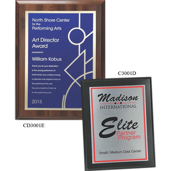 7'' X 9'' - Plaque Award. Choice Of Screened Plate And Board. Screened Printed Plaques Photo