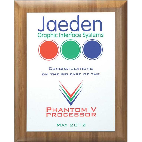 Master Collection - 8'' X 10'' - Plaque Award - Choice Of Screened Plate & Board. Screened Printed Plaques Photo