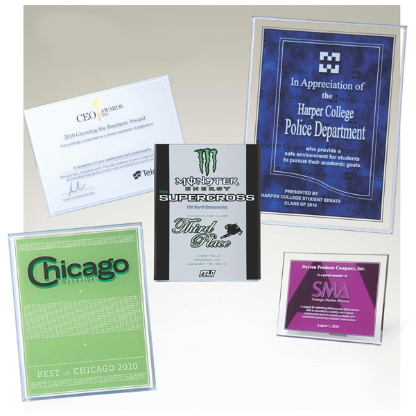 "Acrylicl Screened Plaques - 5"" X 7"" X 3/8"" - Beveled Acrylic Plaque. Includes Up To 3 Colors Photo"