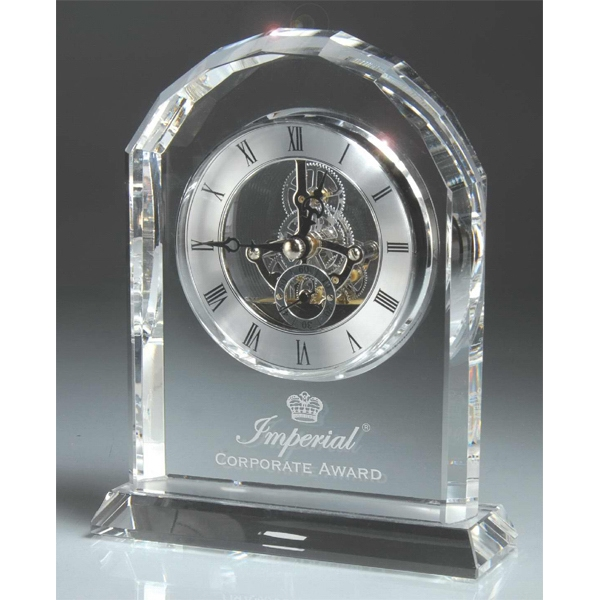 Birmingham Series - Optic Crystal Desk Clock. New! Photo