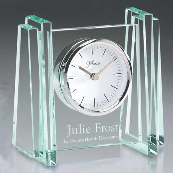 Birmingham Series - Glass Desk Clock. New! Photo