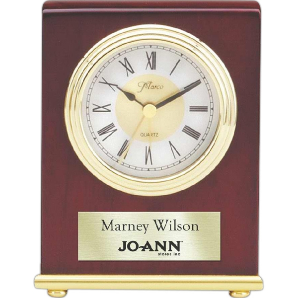 Rosewood Collection - Rosewood Desk Clock. Fast Track Service Available. New! Photo