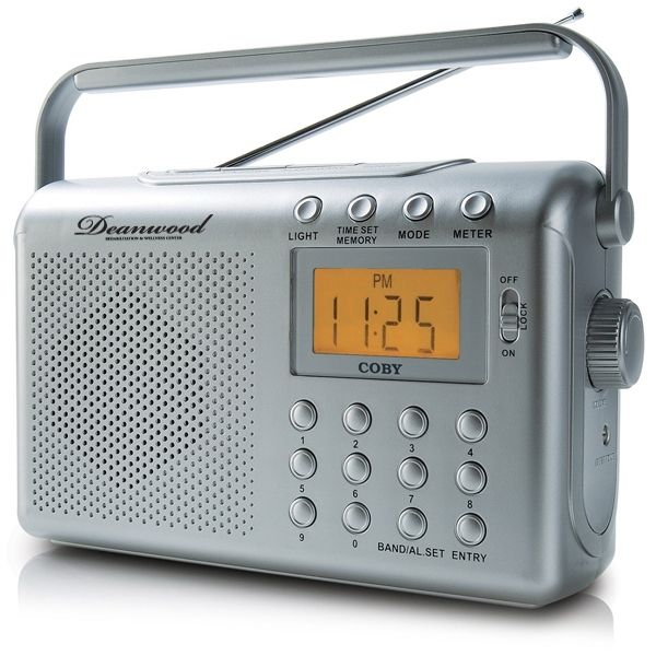 "Portable Digital Am/fm/noaa Radio With Dual Alarms, Integrated 3"" Dynamic Speaker Photo"