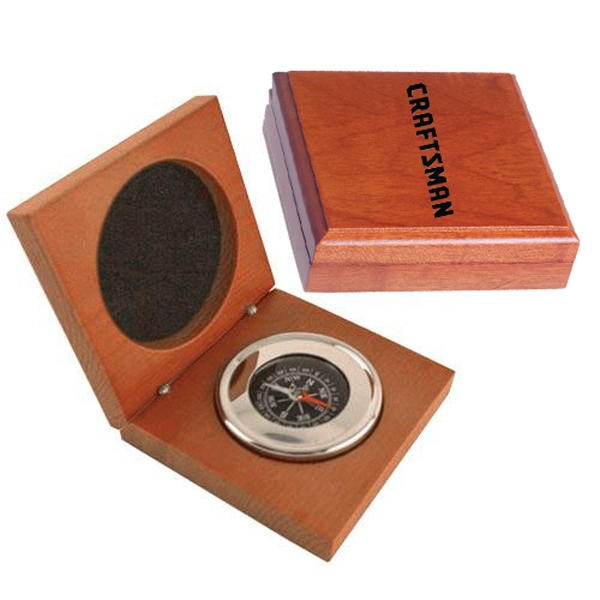 Executive Compass In Wood Box Photo