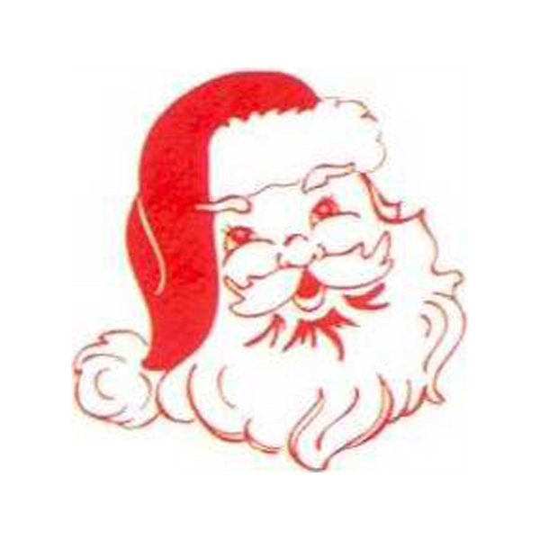 "Temporary Tattoos (tm) - Stock, Non Toxic, Hypoallergenic 2"" X 2"" Santa Claus Face Tattoo, Fda Certified Photo"