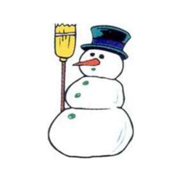 "Temporary Tattoos (tm) - Stock, Non Toxic, Hypoallergenic 2"" X 2"" Snowman Tattoo, Fda Certified Photo"