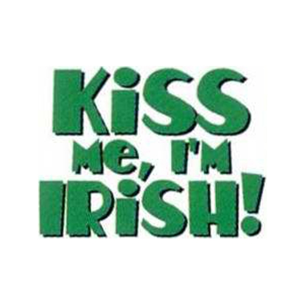 "Temporary Tattoos (tm) - Stock, Non Toxic, Hypoallergenic 2"" X 2"" Kiss Me I'm Irish Tattoo Is Fda Certified Photo"
