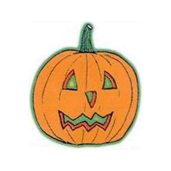 "Temporary Tattoos (tm) - Stock, Non Toxic, Hypoallergenic 2"" X 2"" Jack O' Lantern Glow Tattoo Photo"