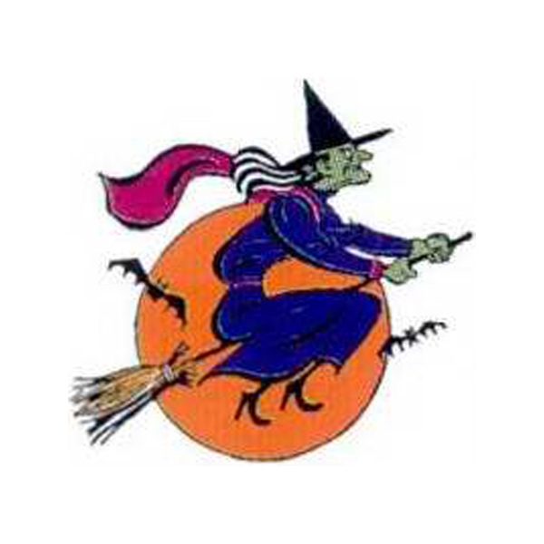"Temporary Tattoos (tm) - Stock, Non Toxic, Hypoallergenic 2"" X 2"" Witch On A Broom Tattoo Is Fda Certified Photo"
